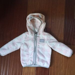 The North face fleece jacket, 12-18 months